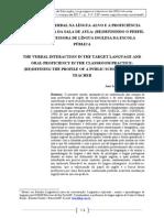 A Intera��o Verbal na L�ngua-Alvo e a Profici�ncia Oral na Pr�tica da Sala de Aula.pdf