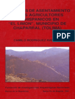 Patrones de Asentamiento de Los Agricultores Prehispanicos