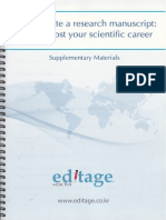 How to Write a Research Manuscript-Tips to Boost Your Scientific Career