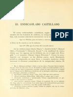 El endecasílabo castellano, Pedro Henríquez Ureña
