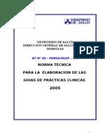 Norma Para La Elaboracion de Guias de Practicas Clinicas