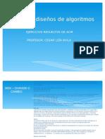 Análisis y diseños de algoritmos EXPO ACM