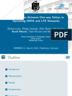 A Comparison Between One-Way Delays in Operating HSPA and LTE Networks