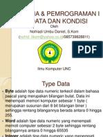 Tipe Data Dan Kondisi