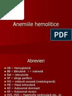 17 - Anemii hemolitice