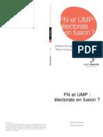 UMP-FN enquete fondation Jean Jaurès