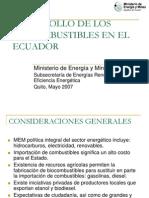 Desarrollo de Los Biocombustibles en Ecuador Mayo07