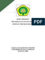 Buku Pedoman Tugas Akhir ELEKTRO-UNDANA 2010