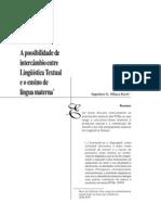 Koch.a Possibilidade de Intercambio Entre Linguistica Textual e Ensino de Lingua Materna (1)