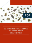 s to Do in Your Lectures