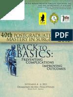 UP-PGH Department of Surgery's 49th Postgraduate Course Souvenir Programme