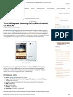 Tutorial Upgrade Samsung Galaxy Note Android 4.0