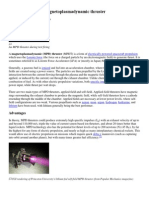 Magnetoplasmadynamic thruster & Ramjet