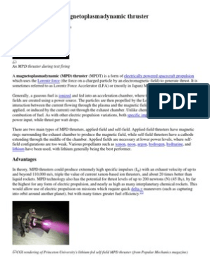 Magnetoplasmadynamic thruster & Ramjet | Spacecraft