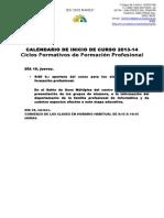 CALENDARIO DE INICIO DE CURSO 2013FP.doc