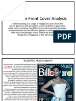Magazine Front Cover Analysis and Inspirational Ideas