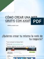 Crear Web Gratis Con Axiatel