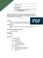 Credit Administration, Measurement