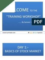 Training Day-1 Stock Market