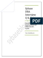 Sybase DBA Interview Q