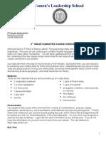 8thgrade humanities syllabus 2013-2014