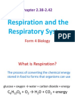 2.38-2.42 Respiration and Respiratory System