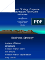 Business Strategy, Corporate Restructuring and Take Overs - R. Ramesh Chandra