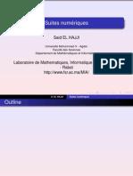 Analyse 1 - Chap 2 - Suites Numeriques - HAJJI