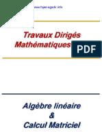 Exercices -Travaux Dirigés Mathématiques
