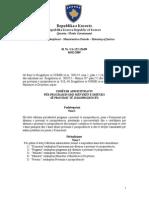 Udhezimi Administrativ Per Programin Dhe Menyren e Dhenies Se Provimit Te Jurisprudences