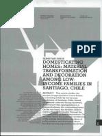 Domesticating Homes S. Ureta