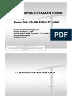 7.3 Kemerosotan Kerajaan Johor