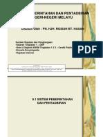 9.1 Sistem Pemerintahan Dan Pentadbiran Negeri-negeri Melayu