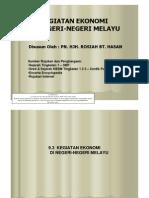 9.3 Kegiatan Ekonomi Di Negeri-negeri Melayu