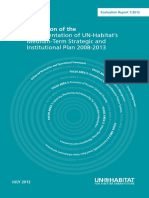 Evaluation of the Implementation of UN-Habitat's Medium-Term Strategic and Institutional Plan 2008-2013