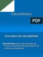 CURS 2 Educabilitatea Ppt