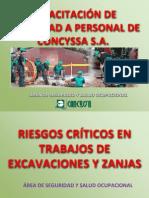 Riesgos Criticos en Trabajo de Excavacion de Zanjas