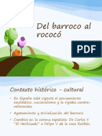 Del Barroco Al Rococ 1