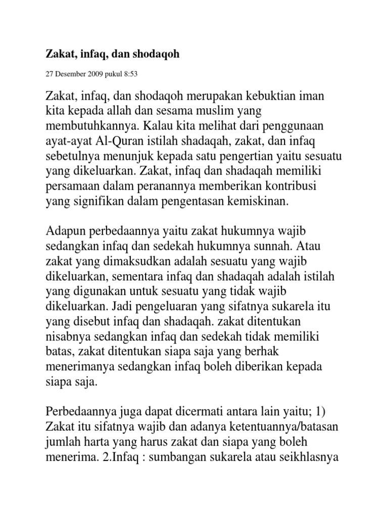 Zakat Infaq Dan Shodaqoh