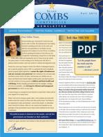 Fall 2013 Susan Combs Newsletter