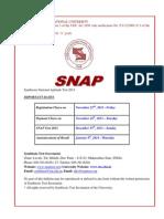 SNAP 2013 Bulletin