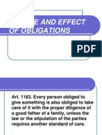 Nature and Effect of Obligations