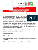13-09-13 Agenda Legislativa Tercera Plenaria Gppri-gppvem