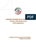 Primer Informe Legislativo CREAN