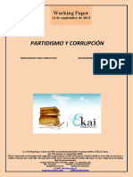 PARTIDISMO Y CORRUPCION (Es) PARTISANSHIP AND CORRUPTION (Es) ALDERDIKERIA ETA USTELKERIA (Es)