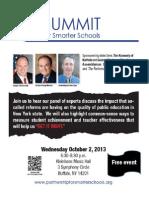 Summit for Smarter Schools Flyer