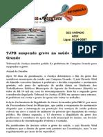 TJPB suspende greve na saúde em Campina Grande