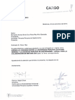 Carta con sello de recepción