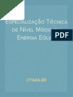 Especialização Técnica de Nível Médio em Energia Eólica - CTGAS-ER