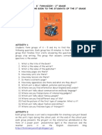 Think Teen 2nd Grade Book Introduction Activity Leaflet